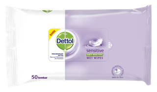 Dettol Anti Bakteri Wet Wipes Sensitive (50 lembar)